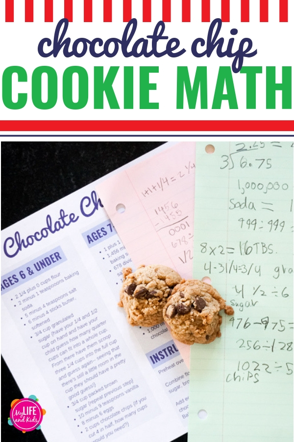 I'm sharing our favorite recipe for chocolate chip cookies, plus I'm showing how parents can turn baking into a great math game with their kids. #ad Download our free Chocolate Chip Cookie Math printable to have your kids solve math equations to determine the exact cookie recipe (don't worry, we also included a cheat sheet). Plus, learn about the amazing math programs offered by @SylvanLearning! #SylvanLearning