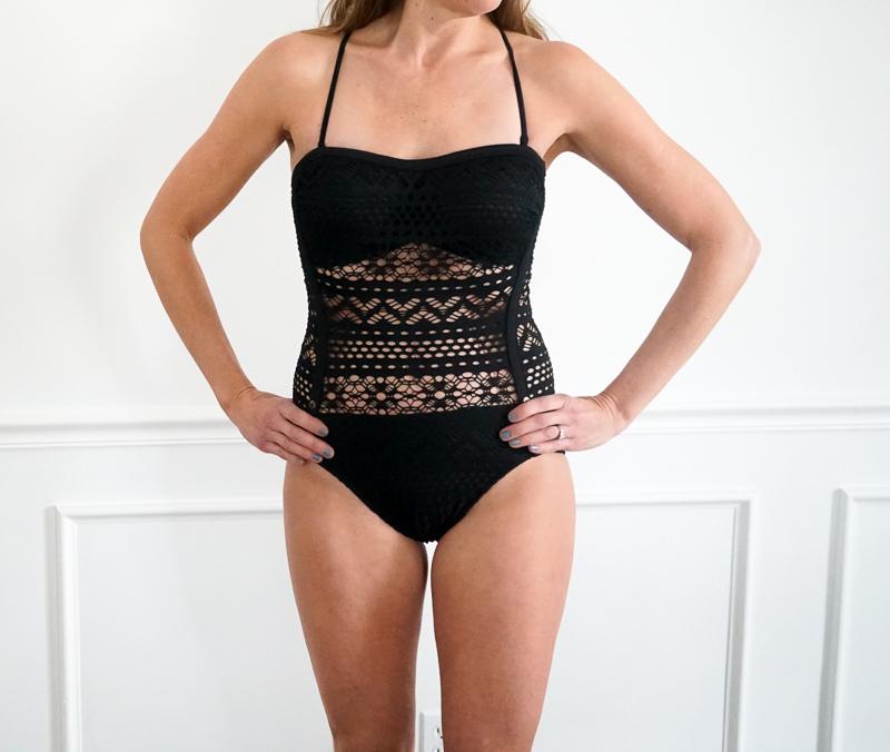 145e77e96a786 COCOSHIP Retro One Piece Backless Bather Swimsuit High Waisted Pin Up  Swimwear
