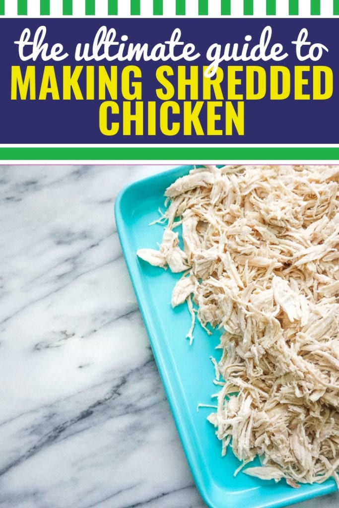 Whether you're making shredded chicken in the crockpot, the instant pot, in the oven or on the stovetop, I'm sharing the easiest way to make shredded chicken, plus I'm sharing some of my very favorite recipes to make with shredded chicken. I love making a ton of shredded chicken to incorporate into meals during the week, or to freeze for quick and easy meals all month long.