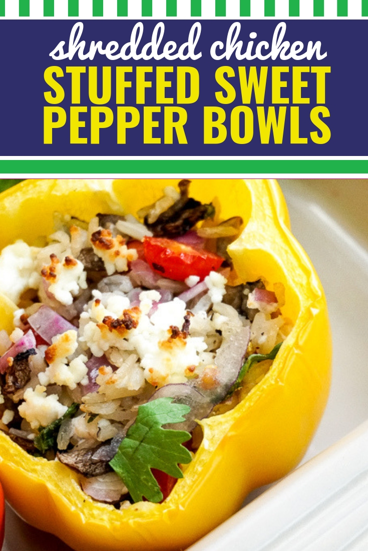 These stuffed peppers made with shredded chicken and brown rice are easy, healthy and downright delicious. You can make the shredded chicken base in the instant pot, the crockpot, in the oven or on the stovetop.This baked sweet pepper bowl hits all the feels. With its bold, bright presentation, it is easy to forget how much nutritional value is packed into each pepper!