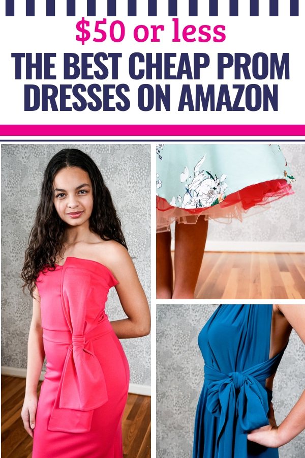 b303c49579 The Best Cheap Prom Dresses on Amazon -  50 or Less! - My Life and Kids