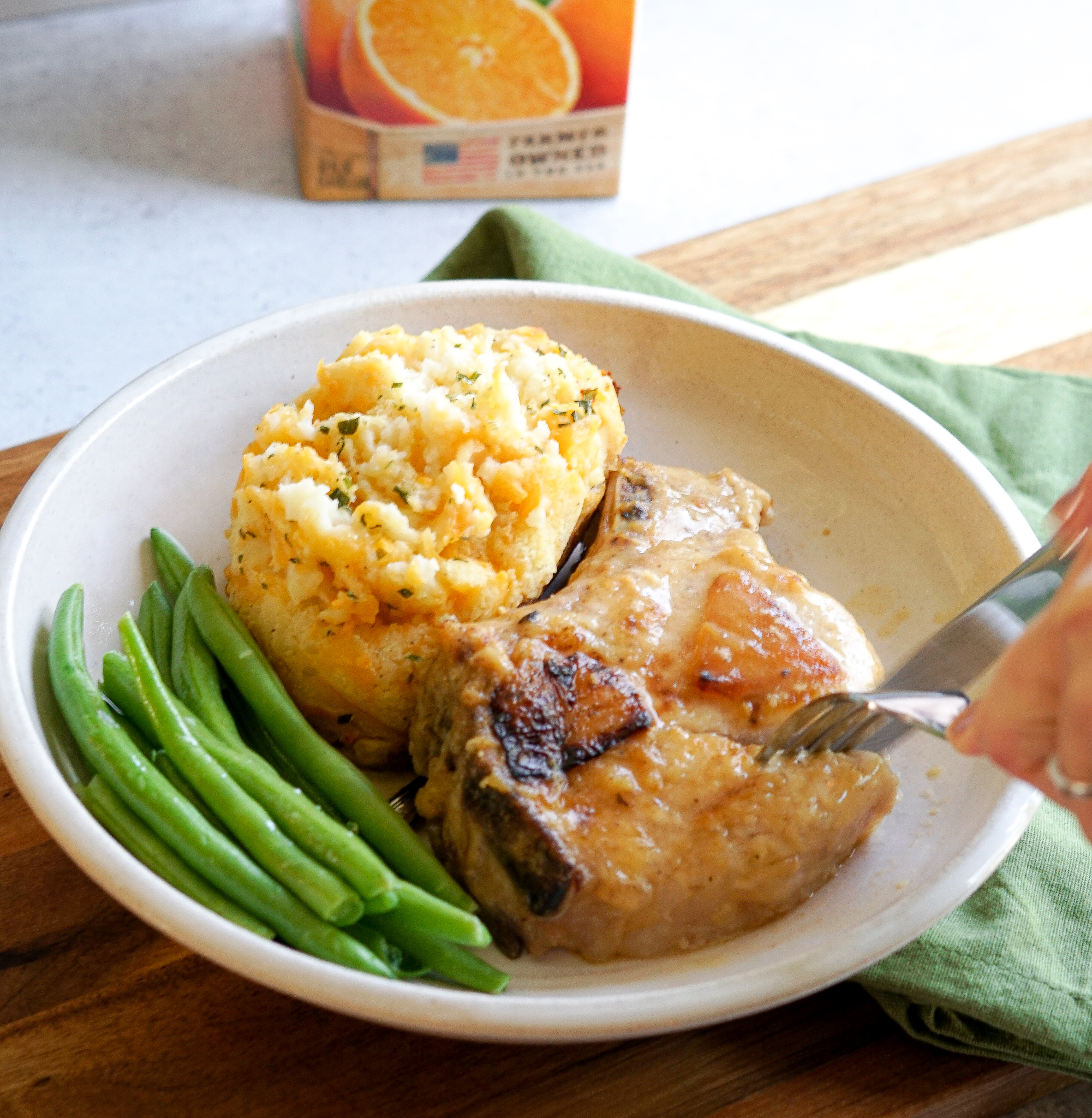 Juicy Orange Juice Pork Chops Recipe (2)